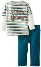 AUTH.NWT CALVIN KLEIN CK BABY BOYS INFANT COLOR TWOFER STRIPES TOP W/PANTS, 6-9M