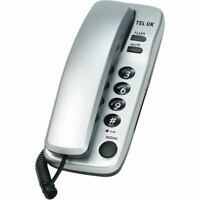 TEL UK SORRENTO 2PC DESK/WALL MOUNT CORDED PHONE - SILVER (18035S)