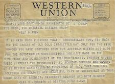1950 WESTERN UNION TELEGRAM SENATOR OLIN D JOHNSTON SC TED MACK AMATEUR HOUR