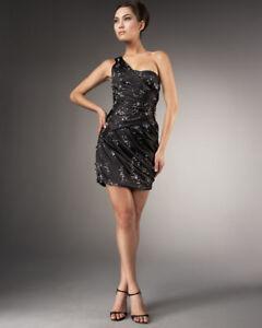 EMBELLISHED BEADED SATIN GOWN MANDALAY DRESS 6 US