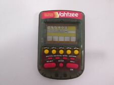 Yahtzee Handheld Electronic Travel Game 1995 Milton Bradley Smoke TESTED