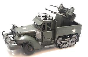 Replica WW2 Half Track Tin Model Truck with Box- Leapers Inc.