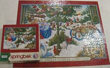 THE TWELVE DAYS OF CHRISTMAS 1000 PCE SPRINGBOK JIGSAW PUZZLE 100% COMPLETE K-88