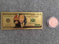 Donald Trump 24K .999 Gold Dollar and .999 Copper Coin