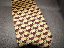 MENS PAOLO GUCCI TIE BUCKLE DESIGN 100% SILK MADE IN ITALY