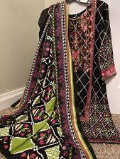 Pakistani Stitched Salwar Kameez With Long Shawl Duppatta Winter Khaddar Medium