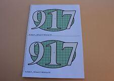 QS 2 Certificat papier PORSCHE 917 1000 km de Spa 1969 pour socle Heco 1/43