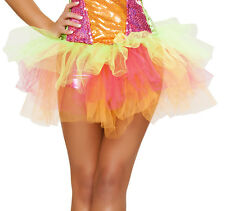 Multicolor Layered Tulle Petticoat Rave Accessory Rainbow Tutu Skirt Roma Tutu