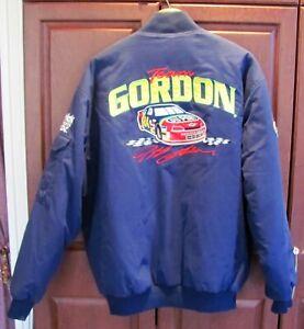 Jeff Gordon Nascar Hendrick Motorsports Lined Jacket Dupont Chase 24 SIZE LARGE