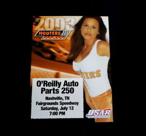 2003 Mini Poster Hooters Girl Pro Cup O'Reilly Auto Parts Nashville Fairground