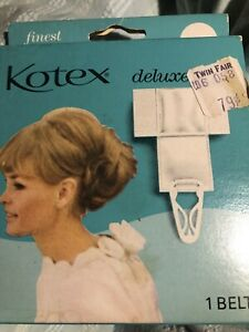 Vintage 70,s Kotex Deluxe Sanitary Napkin Belt - New in Box Kimberly Clark