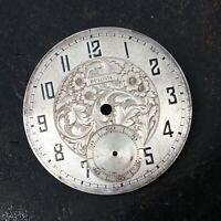 Vintage Bulova Floral Designed Dial Watchmakers Estate Parts Repairs 38mm