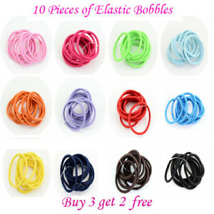 2mm Cute Baby Girls kids Hair Elastic Bobbles Bands knot School Head Pony Tail