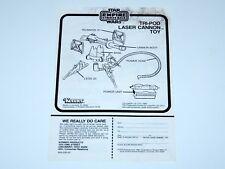 STAR WARS - ORIGINAL SPARE INSTRUCTIONS 1982 ESB TRI-POD LASER CANNON KENNER
