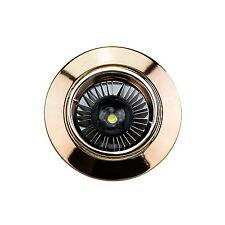 Spot Rund Gold Einbauspot Strahler Bad Außen Einbaustrahkler GU10 LED möglich