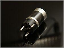 Valab Carbon Housing Rhodium Plated Copper Power Cord Shuko Plug - EU Schuko