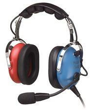 PA-1151ACB Headset General Aviation - Cadet/Child Headset - Red/Blue - Pilot USA