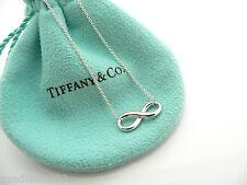 Tiffany & Co Silver Infinity Figure 8 Necklace Pendant Single Chain Charm Rare