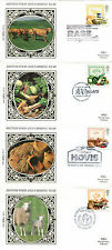 7 MARCH 1989 FOOD AND FARMING SET OF ALL 4 BENHAM SILK FIRST DAY COVERS SHSs