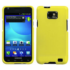 AT&T SAMSUNG GALAXY S2 i777 i9100 SNAP ON HARD COVER RUBBER YELLOW