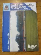 12/10/2002 Weston Super Mare V Bath City [FA Cup] (plié). objet en très bon co