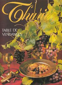 Revue cuisine Thuries table de vendanges  No 12- Sept  1989