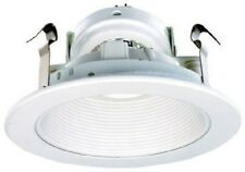 "Elco EL1493W 4"" White Low Voltage Baffle Trim for Recessed Lighting"