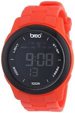 Breo Orb Ten ORX107 Unisex Digital Sports Watch Black Face Red Strap