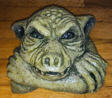 Latex mould for making this Spooky Gargoyle Head Plaque