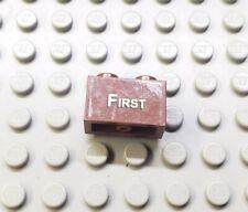 LEGO Reddish Brown 1x2 Brick with Gold FIRST 10194 Emerald Night Sticker