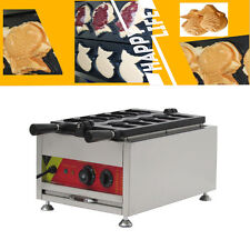 110V Commercial Nonstick Electric Fish Waffle Maker Baker Iron 3200W