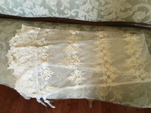 BELLA NOTTE OLIVIA LACE BOLSTER COVER in CHAMPAGNE *DISCONTINUED*