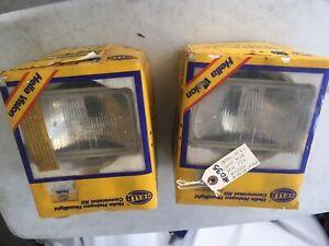 Hella Older Pair of 2 Halogen Head Light Conversion #1AB 003 177-862