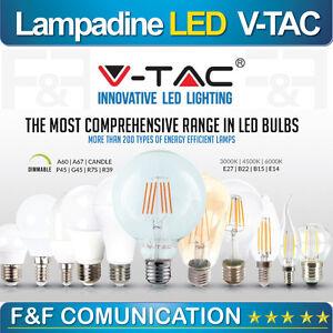 LAMPADINE V-TAC LED E27 E14 da 4W a 17W LAMPADA SFERA MINI GLOBO BULBO PAR VTAC