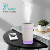 Auto 750ML Mini USB Diffuser Car Ultrasonic Mist Humidifier Air Diffuser+7 Color