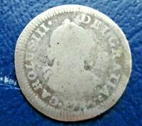 1784 Mexico Carolus III Silver 1/2 Real, Colonial (Box-1 #23)
