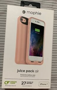 Mophie Juice Pack Air Wireless Charging Battery Case for iPhone 8 / 7 - RoseGold