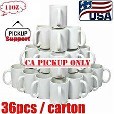 Pickup 36pcs Blank Mugs A Grade 11oz Sublimation Coated Mugs Heat Press