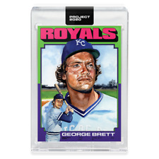 Topps PROJECT 2020 Card 344 - 1975 George Brett by Jacob Rochester Kansas Royals