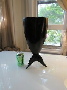 "R & Y Augousti Asymetrical Pen-Shell Modernist Vase Paris 15.5"" tall"