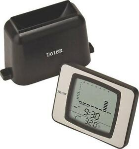 NEW TAYLOR 2755  WIRELESS RAIN GAUGE & THERMOMETER PROGRAMMABLE SALE 3865524