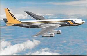 AIRLINE ISSUE  POSTCARDS-SUDAN AIRWAYS-B707-320C