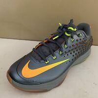 Nike Air Zoom Kevin Durant Elite Mens Size 11 Graphite Volt Citrus Grey 724349