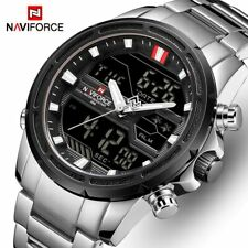 NAVIFORCE Luxury Military Waterproof LED Analog & Digital Sport Men's Watches