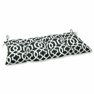 """Pillow Perfect Indoor/Outdoor New Geo Black/White Swing/Bench Cushion44"""" x 18.5"""""""