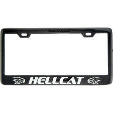SHOW QUALITY Carbon Fiber License Plate Frame Hellcat SRT Dodge Challenger Charg