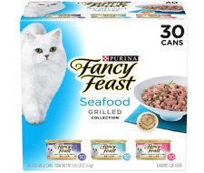 New listing Purina Fancy Feast Grilled Feast in Gravy Canned Wet Cat Food Seafood Variety