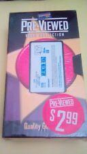 Arlington Road RARE Blockbuster Video Pre-Viewed case movie collectible 1998 VHS