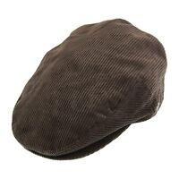 Jaxon&James Brown Corduroy Flat Cap Edwardian Victorian Peaky Blinders Style Hat