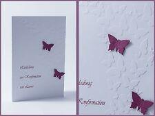 Einladung Einladungskarte Schmetterling Kommunion Konfirmation Taufe Danksagung